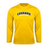 College Performance Gold Longsleeve Shirt-Soccer