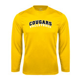 College Performance Gold Longsleeve Shirt-Volleyball