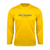 College Performance Gold Longsleeve Shirt-Dad