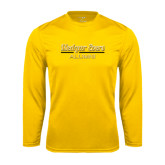 College Performance Gold Longsleeve Shirt-Alumni