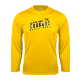 College Performance Gold Longsleeve Shirt-Basketball Design