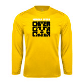 College Performance Gold Longsleeve Shirt-Cheer Design