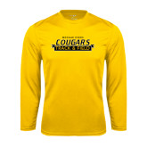 College Performance Gold Longsleeve Shirt-Track and Field Design