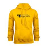 College Gold Fleece Hoodie-Medgar Evers Cougars
