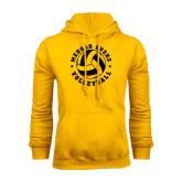 College Gold Fleece Hoodie-Volleyball Design