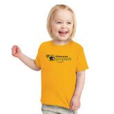 Toddler Gold T Shirt-Medgar Evers Cougars