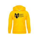 College Youth Gold Fleece Hoodie-Official Logo