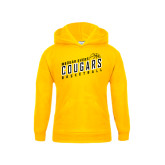 College Youth Gold Fleece Hoodie-Basketball Design