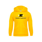 College Youth Gold Fleece Hoodie-Cross Country Design