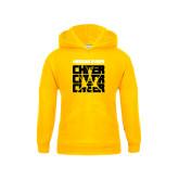 College Youth Gold Fleece Hoodie-Cheer Design