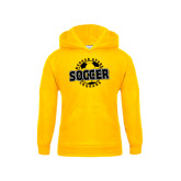 College Youth Gold Fleece Hoodie-Soccer Design