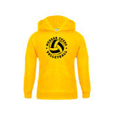 College Youth Gold Fleece Hoodie-Volleyball Design