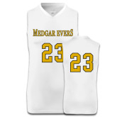 College Replica White Adult Basketball Jersey-#23