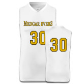 College Replica White Adult Basketball Jersey-#30
