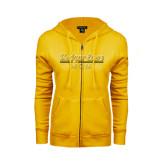 College ENZA Ladies Gold Fleece Full Zip Hoodie-Mom