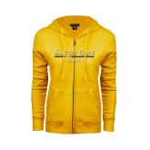 College ENZA Ladies Gold Fleece Full Zip Hoodie-Alumni