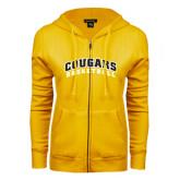 College ENZA Ladies Gold Fleece Full Zip Hoodie-Basketball