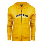College ENZA Ladies Gold Fleece Full Zip Hoodie-Cheerleading