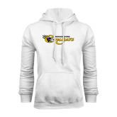 College White Fleece Hoodie-Medgar Evers Cougars