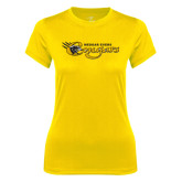 Ladies Syntrel Performance Gold Tee-Medgar Evers Cougars