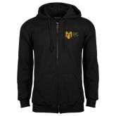 College Black Fleece Full Zip Hoodie-Official Logo