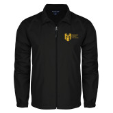 College Full Zip Black Wind Jacket-Official Logo