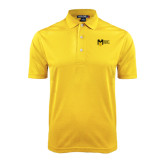 College Gold Dry Mesh Polo-Official Logo