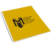 College College Spiral Notebook w/Clear Coil-Official Logo
