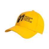 College Gold Heavyweight Twill Pro Style Hat-Official Logo