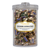 Snickers Satisfaction Large Round Canister-Wordmark
