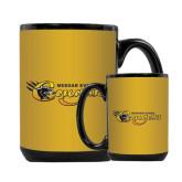 Full Color Black Mug 15oz-Medgar Evers Cougars