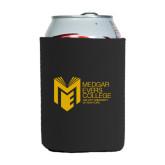 College Neoprene Black Can Holder-Official Logo