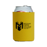 College Neoprene Gold Can Holder-Official Logo