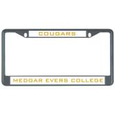 Metal License Plate Frame in Black-Cougars