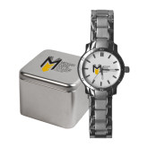 College Ladies Stainless Steel Fashion Watch-Official Logo