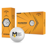 College Callaway Warbird Golf Balls 12/pkg-Official Logo