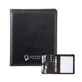 Carbon Fiber Tech Padfolio-Queens College Stacked