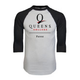 White/Black Raglan Baseball T-Shirt-Parent
