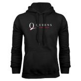 Black Fleece Hoodie-Queens College Stacked
