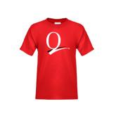 Youth Red T Shirt-Q Logo