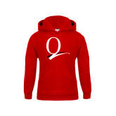 Youth Red Fleece Hoodie-Q Logo