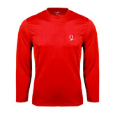 Performance Red Longsleeve Shirt-Q Logo