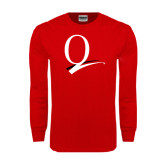 Red Long Sleeve T Shirt-Q Logo