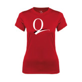 Ladies Syntrel Performance Red Tee-Q Logo