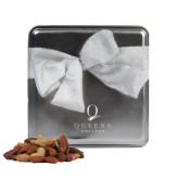 Deluxe Nut Medley Silver Medium Tin-Queens College Stacked Engraved