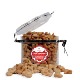 Cashew Indulgence Round Canister-Queens College Stacked