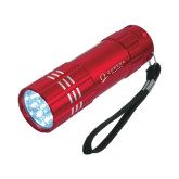 Industrial Triple LED Red Flashlight-Queens College Stacked Engraved