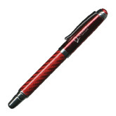 Carbon Fiber Red Rollerball Pen-Queens College Stacked Engraved