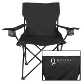 Deluxe Black Captains Chair-Queens College Stacked