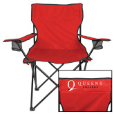 Deluxe Red Captains Chair-Queens College Stacked